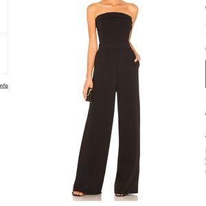 NWT Cupcakes and Cashmere Black Strapless Jumpsuit